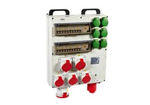 Breaker panel, 400V, 40 kW, 63 amp, CEE
