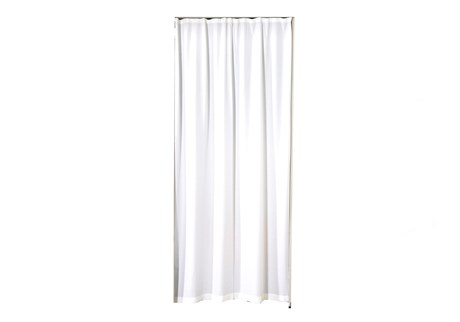 Curtain for doorway, white