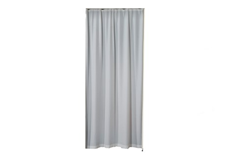 Curtain for doorway, grey