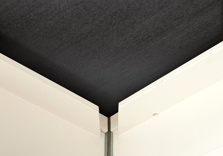 Ceiling, black cloth, per square metre
