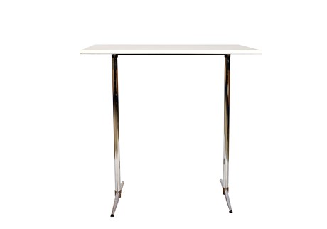 Table, white, laminate, L: 115 W: 75 H: 110 cm