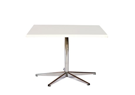 Table, white, laminate, L: 75 W: 75 H: 50 cm